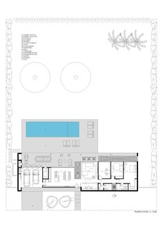 Pool House Plans, Best House Plans, Modern House Plans, Modern House Design, Home Map Design, Plan Design, Villa Plan, House Map, Room Planning