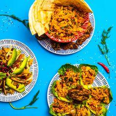 Healthy South Indian Dish - Good Magazine Tamarind Recipes, Thai Stir Fry, Pita Pockets, Halloumi, Indian Dishes, Biryani, Fennel, Green Beans, Cauliflower