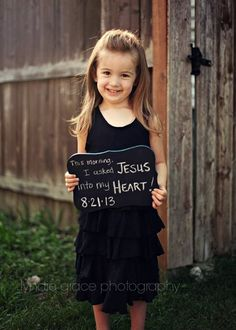 Great idea when a child receives Christ into their heart!