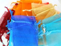 35 Colorful Organza Bags in Supplies! Starting Bid is only $2 Yeeyyyy!!! :)