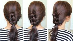 Hey guys, this hair tutorial will show you how to create a knotted ponytail that's perfect for summer. This hairstyle uses the same technique as a french braid but I