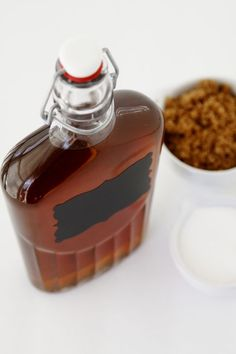Homemade Amaretto What You Will Need: 1 cups water 1 cup granulated sugar cup packed dark brown sugar 2 tablespoons pure almond extract 2 teaspoons pure vanilla extract 2 cups Vodka Homemade Alcohol, Homemade Liquor, Fun Drinks, Yummy Drinks, Yummy Food, Beverages, Slushies, Alcohol Recipes, Food Gifts
