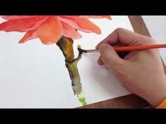 How to paint Dahla flower Part3