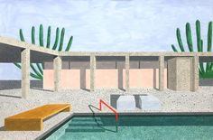 <p>Ana Popescu is a Romanian artist, who studied in Vienna, placing her work somewhere between art and illustration. Her series 'Homes' represents a mix of inspiration, such as the houses