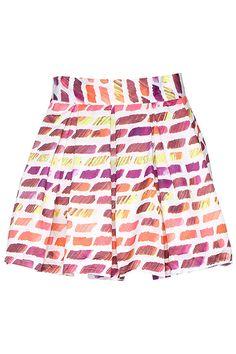 ROMWE   ROMWE Watercolor Graffiti Print Pink Skirt, The Latest Street Fashion