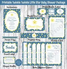 Hey, I found this really awesome Etsy listing at https://www.etsy.com/listing/202155343/twinkle-twinkle-little-star-baby-shower
