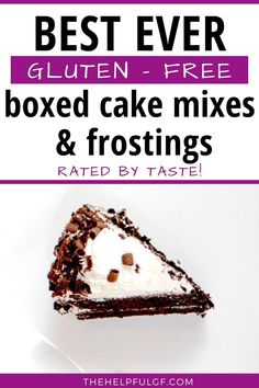 Pin now for the favorite gluten free products for cake mix and frosting. Recommended brands are rated based on best tasting, healthiest, and ingredients and certified gluten free. Plus, tips for making a cake mix dairy free or vegan too! #glutenfreecake #glutenfreebaking #celiacdisease #allergyfriendly Gluten Free Baking, Gluten Free Desserts, Gluten Free Recipes, Delicious Desserts, Gluten Free Makeup, Organic Chocolate, Box Cake Mix, Food Shows, Free Products