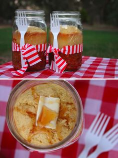 Cornbread & Chili in a Mason Jar