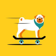 Pug illustration on Behance