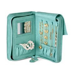 """Ross-Simons - Reed & Barton """"The Perfect Travel Jewelry Book"""" - Travel Organization, Jewelry Organization, Organizing, Pochette Portable, Things To Buy, Stuff To Buy, Mo S, Jewellery Storage, Jewellery Boxes"""