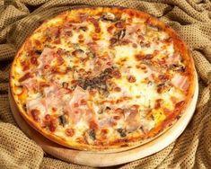 Receta de pizza prosciutto con jamón, queso y champiñones