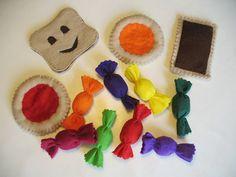 """Dînette """"goûter"""" Biscuits et bonbons en feutrine : Jeux, jouets par atelier-princesse"""