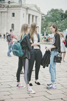 street style adidas tendances de la mode 2015 semaine de la mode 2015 milan semaines de la mode mart blanc chemise mode femenina f street style