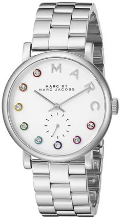Marc by Marc Jacobs Women's MBM3420 Baker Analog Display Analog Quartz Silver-Tone Watch *** Want to know more about the watch, click on the image.