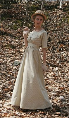 Buy Cicely Edwardian Dress from Recollections. Edwardian Dress, Edwardian Fashion, Vintage Fashion, Edwardian Era, Vintage Style Dresses, Vintage Outfits, Modest Fashion, Fashion Dresses, Fairytale Fashion