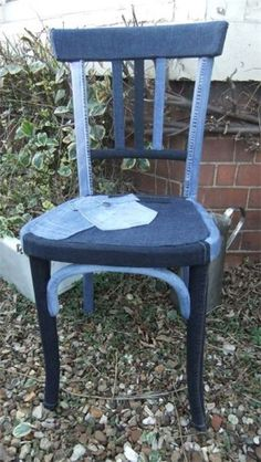 Creative chair for old jeans