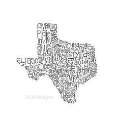 Texas Illustration by AEM Designs of Dallas