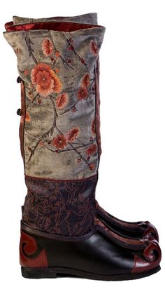 Accessories : Boots Chinese painting embroidered
