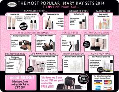 Most Popular Mary Kay Sets! Go to www.marykay.com/lisahuze to get yours!