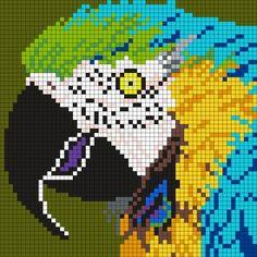 Kandi Patterns for Kandi Cuffs - Animals Pony Bead Patterns Pony Bead Patterns, Kandi Patterns, Peyote Stitch Patterns, Beading Patterns, Cross Stitch Bird, Cross Stitch Charts, Cross Stitching, Cross Stitch Embroidery, Modele Pixel Art