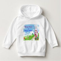 Bunny Kisses & Easter Wishes (Customizable) Hoodie