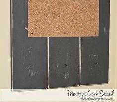Primitive cork board by Willow Handmade, via Flickr