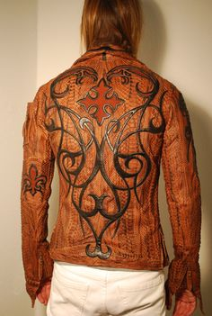 Python leather jacket by loganriese.deviantart.com on @deviantART