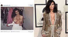¡Descubre el impresionante truco de Kim Kardashian para lucir escote en la alfombra roja!
