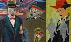 Pessoa, cuadro de Lélia Parreira. (Exposición de febrero de 2013). Painting, Art, Natural Person, Cultural Center, February, Picture Wall, Movies, Art Background, Painting Art