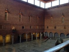 Place where the Nobel Banquet occurs annually at the Stockholm City Hall. Lovely. #Stockholm #Sweden #NobelBanquet