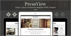 PressView - Vintage and Stylish Magazine Template (Entertainment)