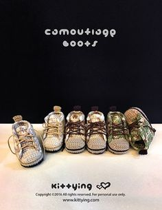 Ganchillo patrón botines bebé camuflaje bebé botas bebé  d2e26ade390e