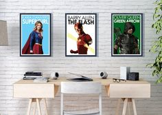 These unique DC CW Arrowverse Poster Prints are sure to make a statement. Based on the blockbuster superhero TV shows, these posters impress and bring the wow factor to any room. This would be the perfect gift for any TV or superhero fan.  A range of sizes are available, if you require a custom print please get in contact with me.  A5 - 14.9 cm x 21 cm Smooth Art Paper  A4 - 21 cm x 29.7 cm Smooth Art Paper  A3 – 29.7 cm x 42 cm Smooth Art Paper  A2 – 42 cm x 59.4 cm Glossy Poster Paper Superhero Tv Shows, Superhero Gifts, All Poster, Poster Prints, Movie Posters, Supergirl And Flash, Crisp Image, Minimalist Poster, Wow Products