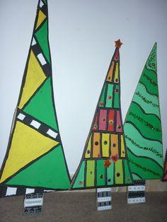 Christmas decoration - Christmas trees from cardboard boxes Christmas Tree Painting, Christmas Trees, Christmas Decorations, Cardboard Boxes, Ideas, Crafts, Toys, Manualidades, Xmas Trees