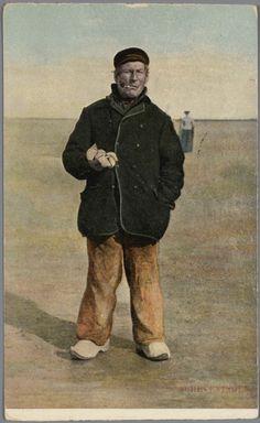 Man in Scheveningse streekdracht. 1905-1907 #ZuidHolland #Scheveningen