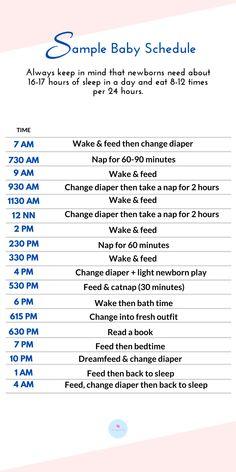 Newborn Baby Tips, Newborn Schedule, Baby Sleep Schedule, Newborn Care, Baby Schedule Printable, Moms On Call, Baby Life Hacks, Baby Information, Baby Care Tips