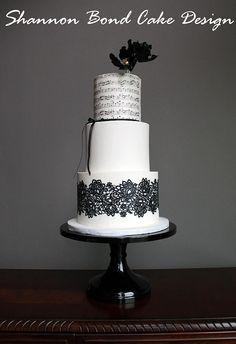 wedding cakes black white on pinterest black white cakes black white weddings and wedding. Black Bedroom Furniture Sets. Home Design Ideas