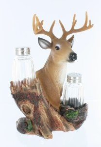Salt lick salt/pepper by Kitchen. $17.99. Deer Salt & Pepper Shackers. This Rustic Salt & Peppers Set is a need for everyone. Our handcrafted collection was created to bring a special touch to your home.App 8in wide 6in tall Salt & Pepper bottles Included.