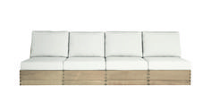 Poolside Elevated Armless Four-Seat Sofa | Sutherland