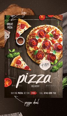 Buy Pizza Flyer by colorblinds on GraphicRiver. Pizza Flyer – This is a pizza promotion flyer to use for your restaurant where you can offer a pizza deal or atract n. Flyer Dj, Sport Flyer, Pizza Flyer, Menu Flyer, Sale Flyer, Yoga Flyer, Radio Flyer, Pizza Menu Design, Food Menu Design