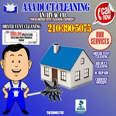 Clean Dryer Vent, Clean Air Ducts, Vent Cleaning, Chimney Sweep, San Antonio, Daily Deals, Conditioning, Indoor, Facebook