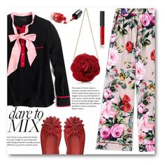 """""""Dare to Mix"""" by juliehalloran ❤ liked on Polyvore featuring J.Crew, Dolce&Gabbana, Michelediloco and NARS Cosmetics"""