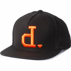 Diamond Un-Polo Snapback Hat (Black/Orange) $39.95