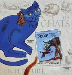 Togo Cats IN Paintings ON Stamps Mint Souvenir Sheet 20H 512 | eBay