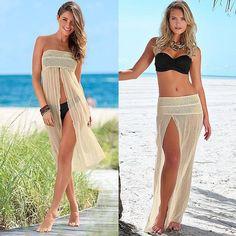 Sleeveless Mesh Beach Cover Up