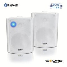 Bluetooth Indoor Outdoor Weatherproof Patio Speakers White Pair By Sound Appeal Wireless Speaker With Long Range Technology High