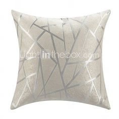Modern Style White Polyester Decorative Pillow Cover ~ Light in the Box $8.99
