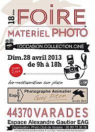 18ème FOIRE MATÉRIEL PHOTO – CINÉ – IMAGE