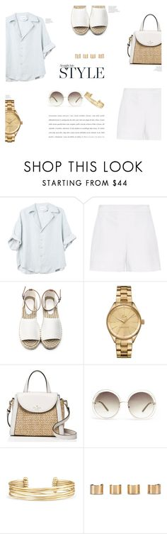 """""""Summer Style"""" by canvas-moods ❤ liked on Polyvore featuring Hallhuber, Lacoste, Kate Spade, Chloé, Stella & Dot and Maison Margiela"""