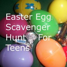 Easter Egg Scavenger Hunt for Teens. Not really a craft, but its for a holiday :) crafts for teenagers Easter Egg Scavenger Hunt for Teenagers - Linda's Lunacy Teen Scavenger Hunt, Easter Scavenger Hunt, Easter Games, Easter Activities, Teen Activities, Easter Egg Crafts, Easter Eggs, Easter Food, Easter Decor